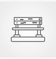 bench icon vector image vector image