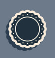 black quality emblem icon isolated on grey vector image vector image