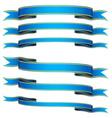 blue ribbons vector image vector image