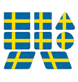 buttons with flag of Sweden vector image vector image