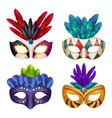 carnival masks masquerade party celebration vector image vector image