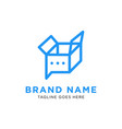 chat box logo design inspiration vector image vector image