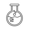 chemistry beaker cartoon vector image
