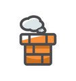 chimney brick pipe icon cartoon vector image vector image