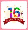 colorful polygonal anniversary logo vector image