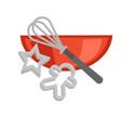 cookie baking cooking utensils vector image vector image