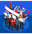 Election Infographic Theatre Audience Isometric vector image vector image
