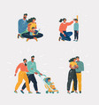 family and children set vector image vector image
