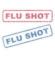 flu shot textile stamps vector image vector image