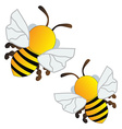 Flying bees vector image vector image
