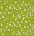 foliage line seamless pattern vector image