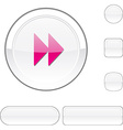 Forward white button vector image vector image