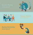 infographic of business meeting design vector image vector image