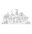 investation concept thin line design vector image