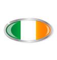 irish flag oval button vector image vector image