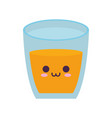 juice glass icon vector image vector image