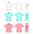 Mens polo t-shirts vector image vector image