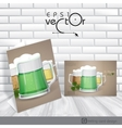 Mug Of Green Beer For St Patricks Day Eps 10 vector image vector image