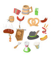 oktoberfest party cartoon icons vector image vector image