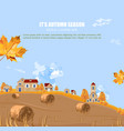 old village fall season background autumn vector image vector image