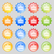 open icon sign Big set of 16 colorful modern vector image vector image