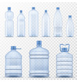 realistic water bottle empty plastic containers vector image vector image