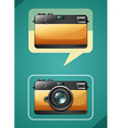 Retro camera design on green vector image vector image