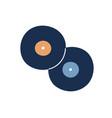 retro vinyl gramophone or phonograph disk records vector image