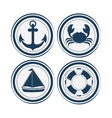 Sea life design nautical and marine concept vector image vector image