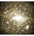 Seamless Gold Floral Wallpaper vector image vector image