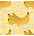 seamless pattern of ripe yellow bananas vector image vector image
