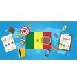 senegal africa economy economic condition country vector image vector image