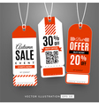 Set with sale labels Autumn sale event vector image
