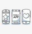 social mobile app digital connected vector image