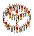 Symbol peace crowd happy vector image vector image