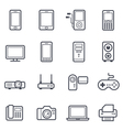 Technology and Devices Icon Bold Stroke vector image