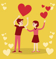 valentines day love couple confess vector image vector image