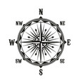 vintage navigation compass symbol vector image vector image