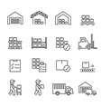 warehouse icon line vector image vector image
