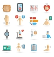 Wearable smart patch flat icons vector image