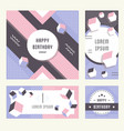 website banner and landing page happy birthday vector image vector image