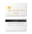 white blank credit card mockup on vector image