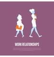 Work relationships banner with businesswomen vector image vector image