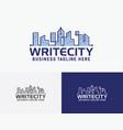 write city logo design vector image vector image