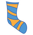 yellow and blue color socks or color vector image