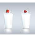 Berries in milk vector image