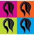 Girls profile in pop-art style vector image