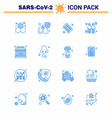 16 blue viral virus corona icon pack such as sign vector image vector image