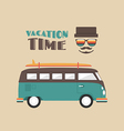 177retro van travel vector image