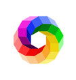 3d color wheel forming a hexagon vector image